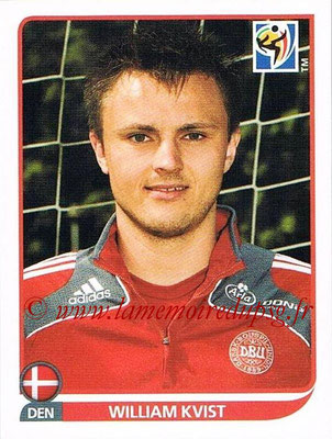 2010 - Panini FIFA World Cup South Africa Stickers - N° 360 - William KVIST (Danemark)