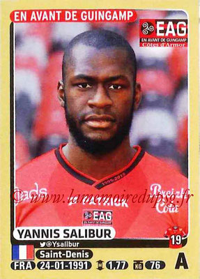 2015-16 - Panini Ligue 1 Stickers - N° 143 - Yannis SALIBUR (EA Guingamp)