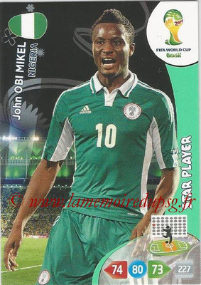 2014 - Panini FIFA World Cup Brazil Adrenalyn XL - N° 264 - John OBI MIKEL (Nigeria) (Star Player)