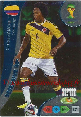 2014 - Panini FIFA World Cup Brazil Adrenalyn XL - N° 366 - Carlos SANCHEZ (Colombie) (Defensive Rock)