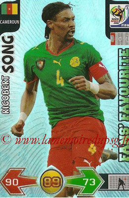 2010 - Panini FIFA World Cup South Africa Adrenalyn XL - N° 061 - Rigobert SONG (Cameroun) (Fans's Favourite)