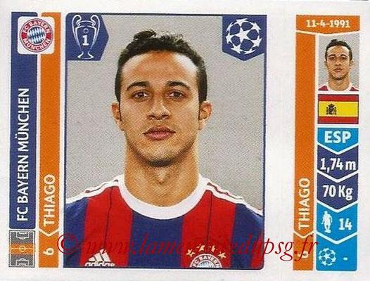 2014-15 - Panini Champions League N° 360 - THIAGO (FC Bayern Munich)