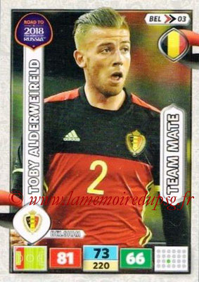 2018 - Panini Road to FIFA World Cup Russia Adrenalyn XL - N° BEL03 - Toby ALDERWEIRELD (Belgique)