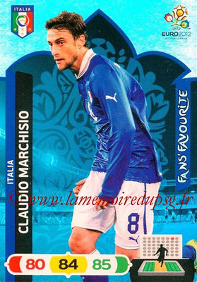 Panini Euro 2012 Cards Adrenalyn XL - N° 259 - Claudio MARCHISIO (Italie) (Fans' Favourite)
