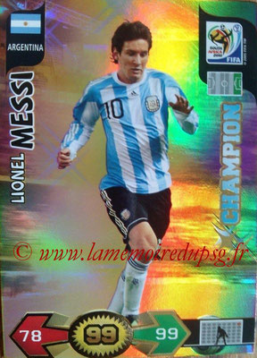 2010 - Panini FIFA World Cup South Africa Adrenalyn XL - N° 021 - Lionel MESSI (Argentine) (Champion)