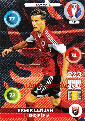 Panini Euro 2016 Cards - N° 343 - Emir LENJANI (Albanie)