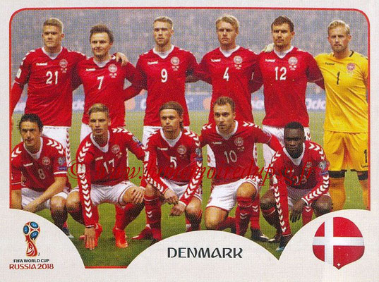 2018 - Panini FIFA World Cup Russia Stickers - N° 253 - Equipe Danemark