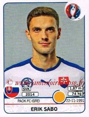 Panini Euro 2016 Stickers - N° 224 - Erik SABO (Slovénie)