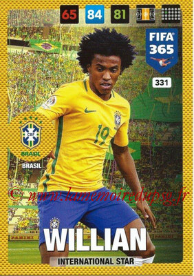 2016-17 - Panini Adrenalyn XL FIFA 365 - N° 331 - WILLIAN (Brésil) (International Star)