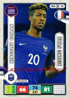 2018 - Panini Road to FIFA World Cup Russia Adrenalyn XL - N° FRA16 - Kingsley COMAN (France) (Rising Star)