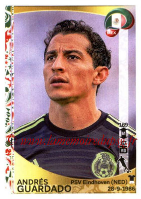 Panini Copa America Centenario USA 2016 Stickers - N° 217 - Andres GUARDADO (Mexique)