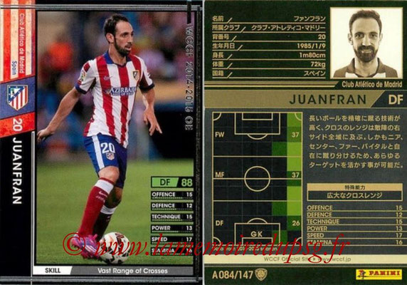 2014-15 - WCCF - N° A084 - JUANFRAN (Atletico Madrid)