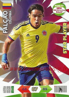 2014 - Panini Road to FIFA World Cup Brazil Adrenalyn XL - N° 035 - FALCAO (Colombie) (Star Player)