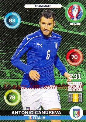 Panini Euro 2016 Cards - N° 178 - Antonio CANDREVA (Italie)