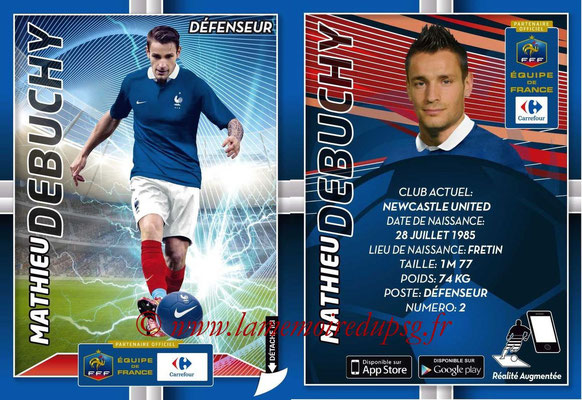 WC 2014 Collection Carrefour 3D Bleus - N° 04 - Mathieu DEBUCHY (Newcastle)