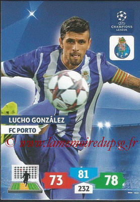 2013-14 - Adrenalyn XL champions League N° 221 - Lucho GONZALEZ (FC Porto)