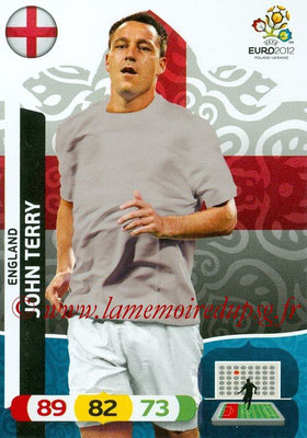 Panini Euro 2012 Cards Adrenalyn XL - N° 046 - John TERRY (Angleterre)