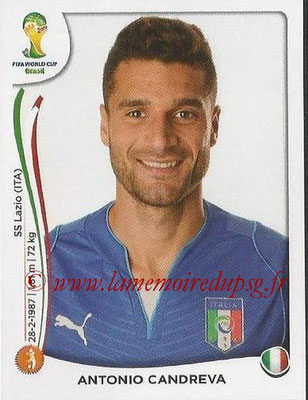 2014 - Panini FIFA World Cup Brazil Stickers - N° 331 - Antonio CANDREVA (Italie)