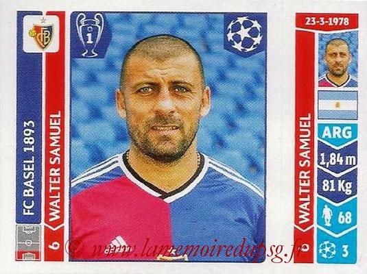 2014-15 - Panini Champions League N° 138 - Walter SAMUEL (FC Bâle)