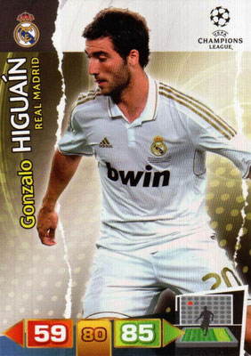2011-12 - Panini Champions League Cards - N° 236 - Gonzalo HIGUAIN (Real Madrid CF)