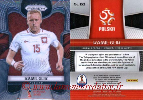 2018 - Panini Prizm FIFA World Cup Russia - N° 152 - Kamil GLIK (Pologne)