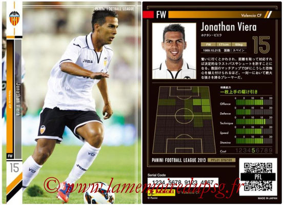Panini Football League 2013 - PFL01 - N° 076 - Jonathan Viera ( Valencia CF )