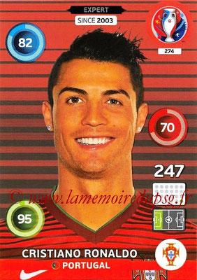 Panini Euro 2016 Cards - N° 274 - Cristiano RONALDO (Portugal) (Expert)