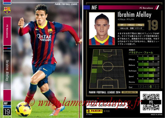 Panini Football League 2014 - PFL08 - N° 038 - Ibrahim AFELLAY (FC Barcelone)