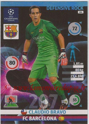 2014-15 - Adrenalyn XL champions League N° 284 - Claudio BRAVO (FC Barcelona) (Defensive Rock)