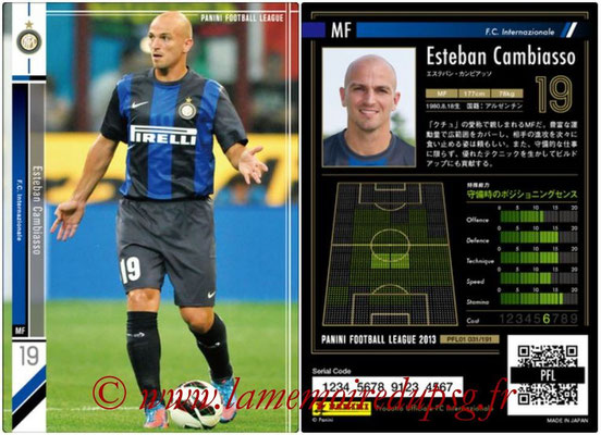 Panini Football League 2013 - PFL01 - N° 031 - Esteban Cambiasso ( F.C. Internazionale )
