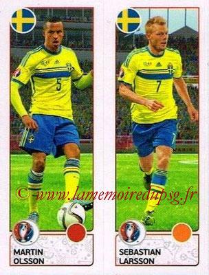 Panini Euro 2016 Stickers - N° 546 - Martin OLSSON + Sebastian LARSSON (Suède)