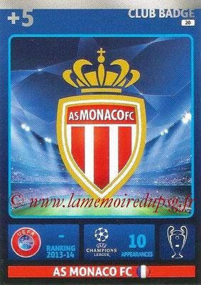 2014-15 - Adrenalyn XL champions League N° 020 - Logo AS Monaco FC (Club Badge)