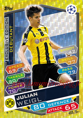 2016-17 - Topps UEFA Champions League Match Attax - N° S14 - Julian WAIGL (Borussia Dortmund) (Debutant) (Exclusive Edition)