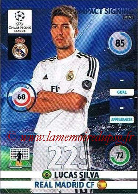 2014-15 - Adrenalyn XL champions League Update edition N° UE091 - Lucas SILVA (Real Madrid) (Impact Signing)