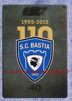 2015-16 - Panini Ligue 1 Stickers - N° 049 - Ecusson SC Bastia