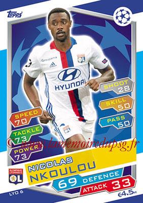 2016-17 - Topps UEFA Champions League Match Attax - N° LYO6 - Nicolas NKOULOU (Olympique Lyonnais)