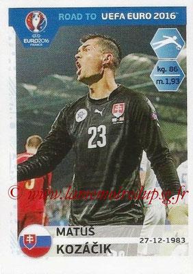 Panini Road to Euro 2016 Stickers - N° 305 - Matus KOZACIK (Slovaquie)