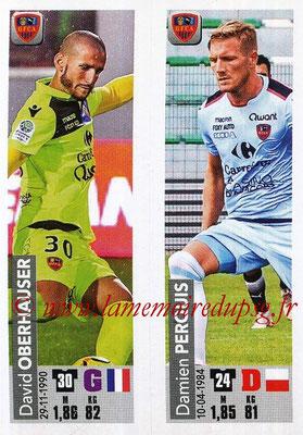 2018-19 - Panini Ligue 1 Stickers - N° 516 - David OBERHAUSER + Damien PERQUIS (Gazelec Ajaccio)