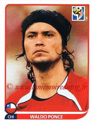 2010 - Panini FIFA World Cup South Africa Stickers - N° 624 - Waldo PONCE (Chili)