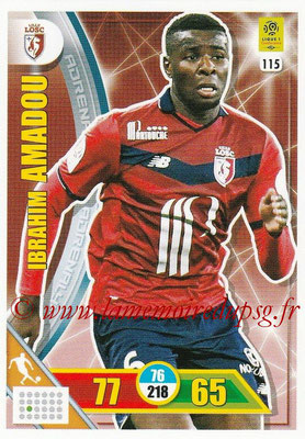 2017-18 - Panini Adrenalyn XL Ligue 1 - N° 115 - Ibrahim AMADOU (Lille)