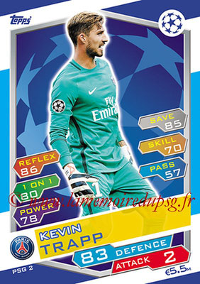 2016-17 - Topps UEFA Champions League Match Attax - N° PSG2 - Kevin TRAPP (Paris Saint-Germain)