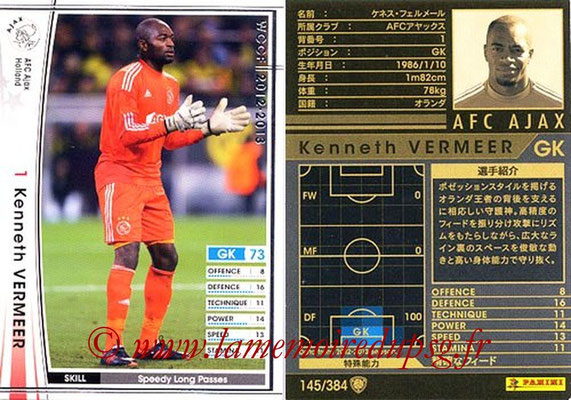 2012-13 - WCCF - N° 145 - Kenneth VERMEER (AFC Ajax)