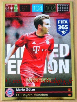 2015-16 - Panini Adrenalyn XL FIFA 365 - N° LE-MG - Mario GÖTZE (Bayern Munich) (Limited Edition)