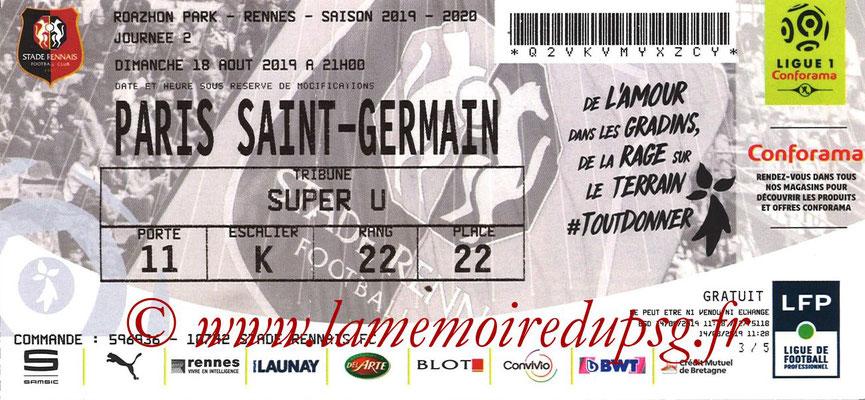Ticket  Rennes-PSG  2019-20