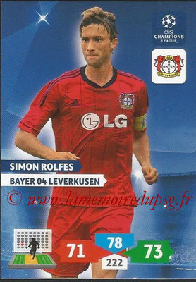 2013-14 - Adrenalyn XL champions League N° 077 - Simon ROLFES (Bayer 04 Leverkusen)