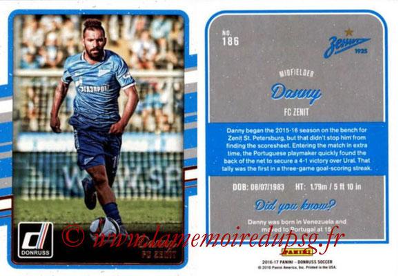 2016 - Panini Donruss Cards - N° 186 - DANNY (FC Zenit)