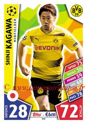 2017-18 - Topps UEFA Champions League Match Attax - N° 102 - Shinji KAGAWA (Borussia Dortmund)