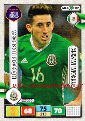 2018 - Panini Road to FIFA World Cup Russia Adrenalyn XL - N° MEX09 - Hector HERRERA (Mexique)
