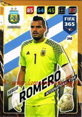 2017-18 - Panini FIFA 365 Cards - N° 340 - Sergio ROMERO (Argentine) (International Star)