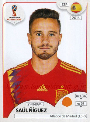 2018 - Panini FIFA World Cup Russia Stickers - N° 148 - Saul NIGUEZ (Espagne)